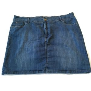 Denim Skort Skirt Attached Shorts 20w blue jean 2x